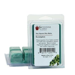 Eucalyptus Soy Tarts 3.5 in. long x 2.5 in. wide x 1 in. thick Pack of 3