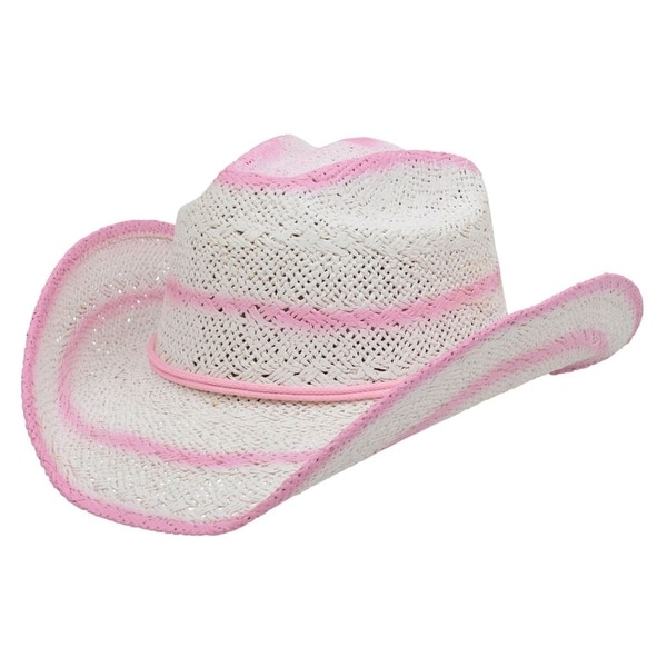 4abcdc75ff7cae Shop Alamo Cowboy Hat Womens Viveza Twisted Toyo Straw White 0 - S/M - Free  Shipping Today - Overstock - 17816644