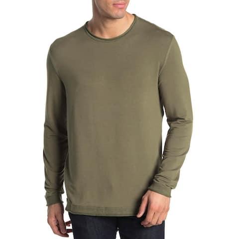 Quinn Mens French Terry Crewneck Sweatshirt Medium Olive