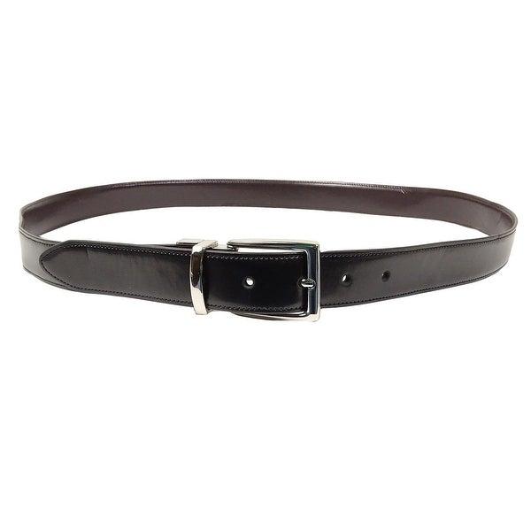 Club Room Men's Coated Leather Reversible Belt (BlackBrown, 40) - Black/Brown - 40