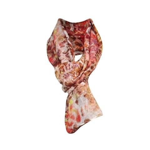 Cejon Women's Animal Tropic Print Woven Wrap Scarf - multi - os