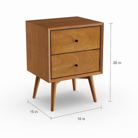 Carson Carrington Bjaeverskov Mid-century Wood/ Veneer 2-drawer Nightstand
