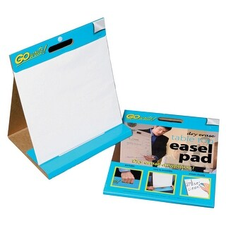 Pacon GoWrite Dry Erase Tabletop Non-Adhesive Easel Pad with Carrying Handle, 16 X 15 in, 10 Sheets, White