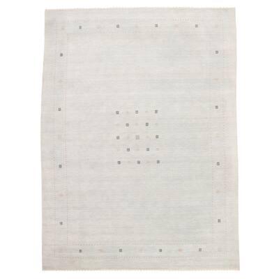 ECARPETGALLERY Hand Loomed Gabbeh Luribaft Light Blue Wool Rug - 10'4 x 13'9