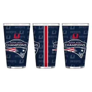 New England Patriots Super Bowl LI Champions 16 oz Pint Glass