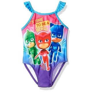 Dreamwave Girls 2T-4T PJ Masks Swim Suit - Blue