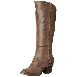 Fergalicious Womens Lexy Fabric Almond Toe Knee High Fashion Boots