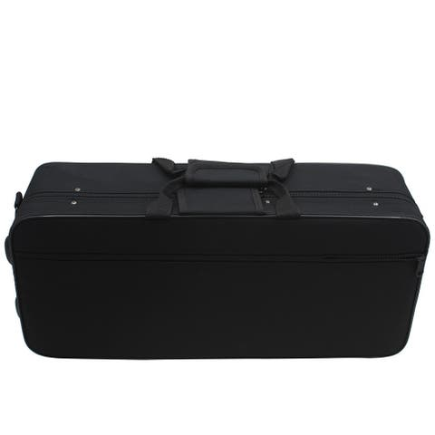 """20"""" Small Sized Oxford Cloth Box with Straps for Instruments Black"""