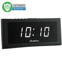 "Electrohome 1.8"" Jumbo LED Alarm Clock Radio with Battery Backup - 1 Year Extended Warranty"