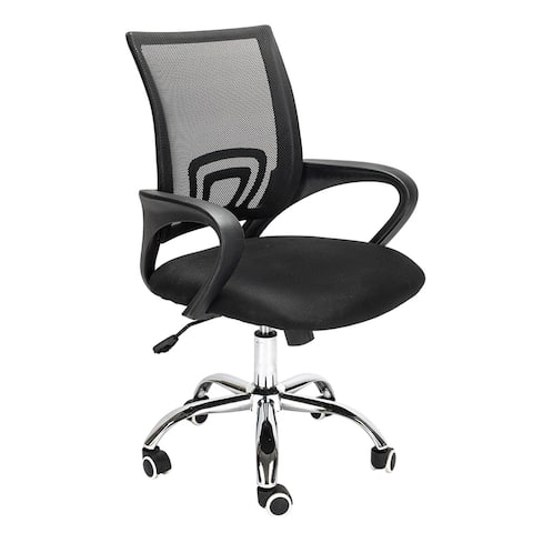 Swivel Chair - Ergonomic Height-adjustable Chair with Folding Armrest