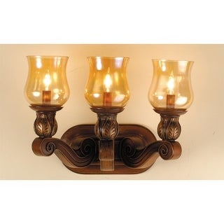 "Meyda Tiffany 71475 3 Light 24"" Wide Bathroom Fixture from the Kendall Collection"
