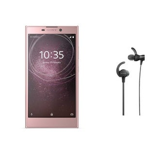 Sony Xperia L2 Unlocked Smartphone (Pink) with Headphones (Black) - Pink