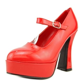 Ellie Eden Women Round Toe Synthetic Red Mary Janes