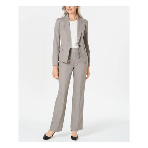 LE SUIT Beige Blazer Straight leg Pant Suit 4