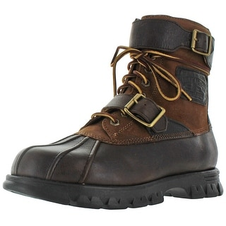 Ralph Lauren Polo Drax Men's Buckle Leather Boots