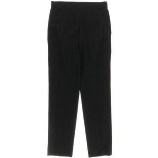 Donna Karan Womens Wool Flat Front Dress Pants
