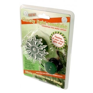 Thirsty Light Battery Operated Blinking Snowflake Christmas Tree Water Sensor