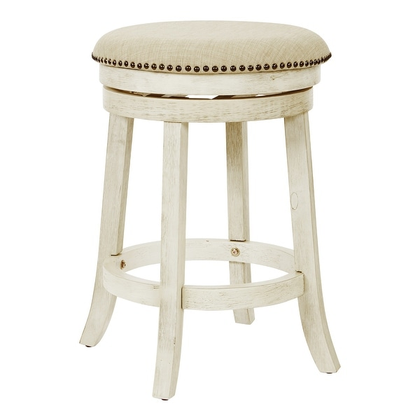 OSP Home Furnishings Metro 26 inch Backless Swivel Stools, 2 Pack. Opens flyout.