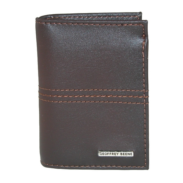 Geoffrey Beene Men's Leather RFID Protected L-Fold Wallet - One size