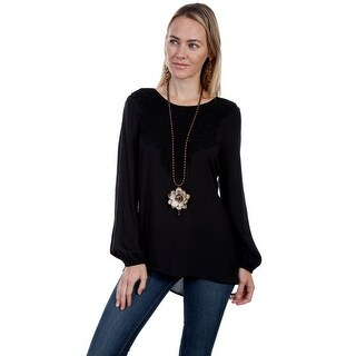Scully Shirt Womens Long Sleeve Back Button Pullover Hi-Lo HC284