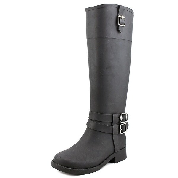 INC International Concepts Federica Women Round Toe Synthetic Black Rain Boot