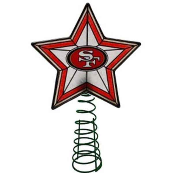 San Francisco 49ers Art-glass Tree Topper