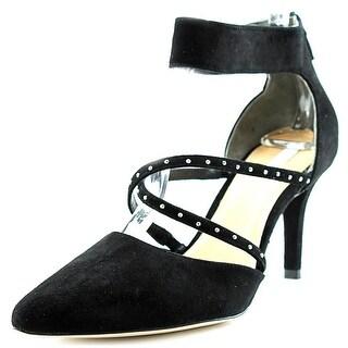 Cole Haan Trella Pump Women Pointed Toe Suede Black Heels