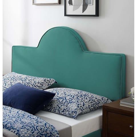 Livingston Arched Green Velvet Upholstered Twin Size Headboard