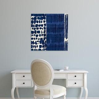 Easy Art Prints 's 'Indigo Batik I' Premium Canvas Art