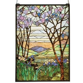 Meyda Tiffany 12514 Stained Glass Tiffany Window from the Magnolia Collection - N/A