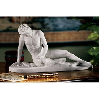 Design Toscano Dying Gaul Bonded Marble Statue