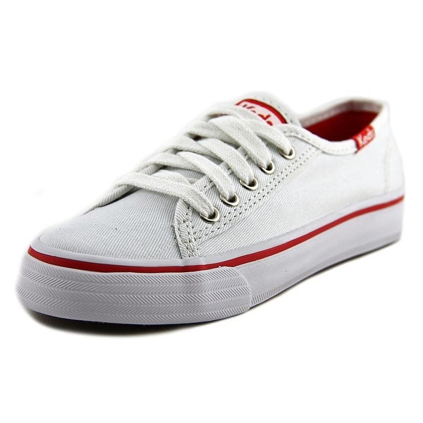 Keds Double Up Youth Round Toe Canvas White Sneakers