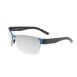 Porsche P8582-C Blue Rectangle Sunglasses - 64-12-135