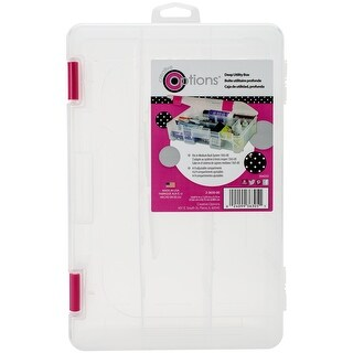 Creative Options Deep 3600 Utility Box-Clear W/Magenta Latches