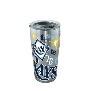 MLB Tampa Bay Rays All Over 20 oz Stainless Steel Tumbler with lid