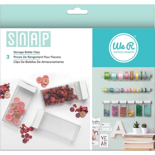 Snap Storage Bottle Clips 3/Pkg-