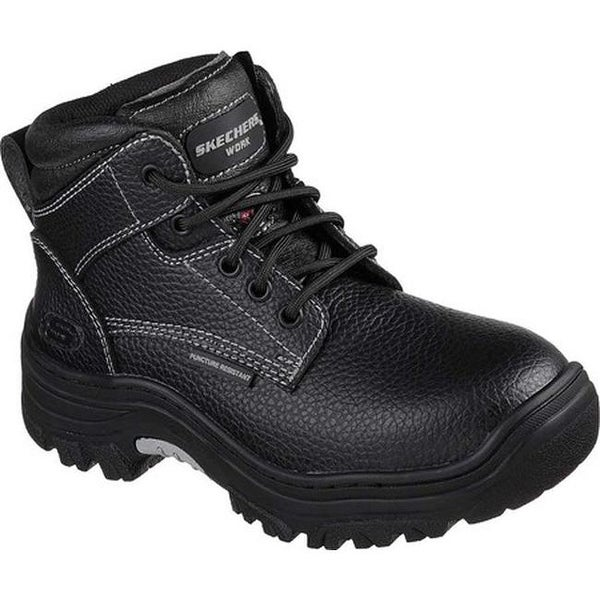 Shop Skechers Women s Work Burgin Krabok Steel Toe Boot Black - On Sale -  Free Shipping Today - Overstock - 20223829 b24240b59