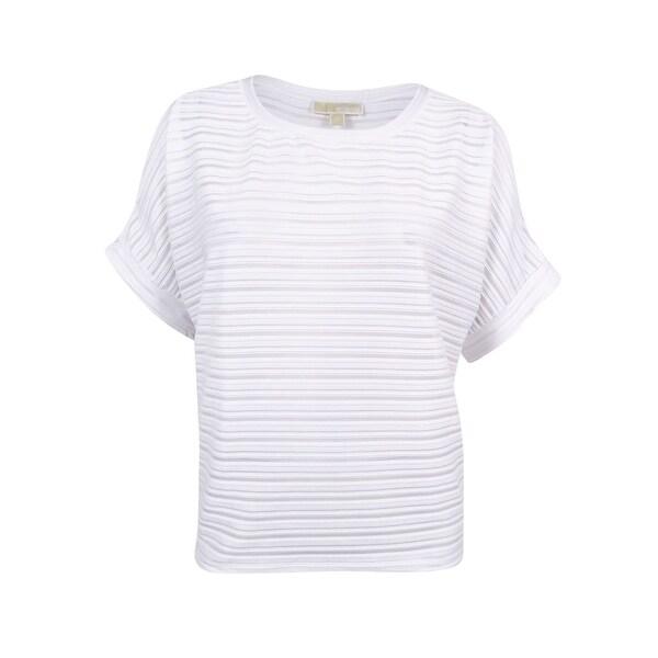 27da75a760ef9 Shop MICHAEL Michael Kors Women s Plus Size Striped Cold-Shoulder Top (3X