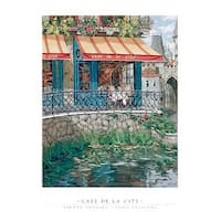 ''Cafe de la Cite'' by Viktor Shvaiko Food Art Print (36 x 27 in.)