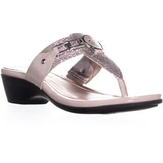 Marc Fisher Amina2 Thong Flip Flop Sandals, Pink Multi - 6.5 us
