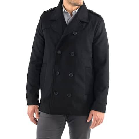 Alpine Swiss Jake Mens Wool Pea Coat Double Breasted Peacoat Jacket