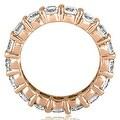3.40 cttw. 14K Rose Gold Round Diamond Eternity Ring,HI,SI1-2 - Thumbnail 1