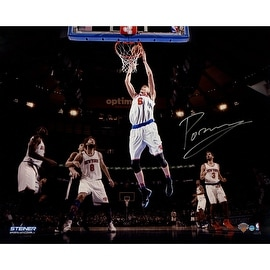 Kristaps Porzingis Signed Dunking vs. Spurs 16x20 Photo