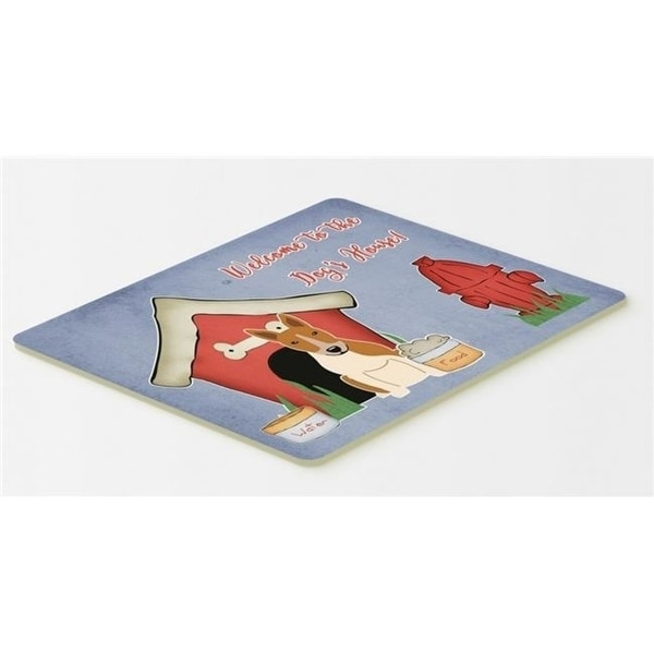 Carolines Treasures BB2889CMT Dog House Collection Bull Terrier Red & White Kitchen or Bath Mat 20 x 30