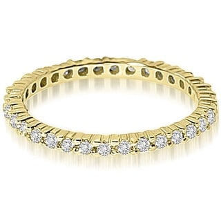0.60 cttw. 14K Yellow Gold Round Shared Prong Diamond Eternity Ring