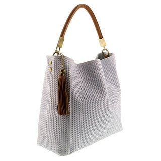 HS2070 BI GRAZIA White Leather Hobo Shoulder Bag