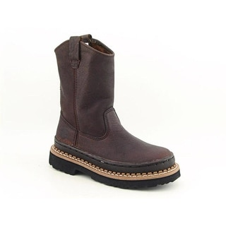 Georgia G204 Giant Wellington Toddler Round Toe Leather Brown Boot