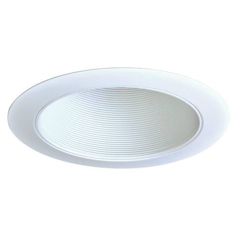 "Halo 310W White Coilex Baffle Recessed Trim, 6"", White Trim Ring"