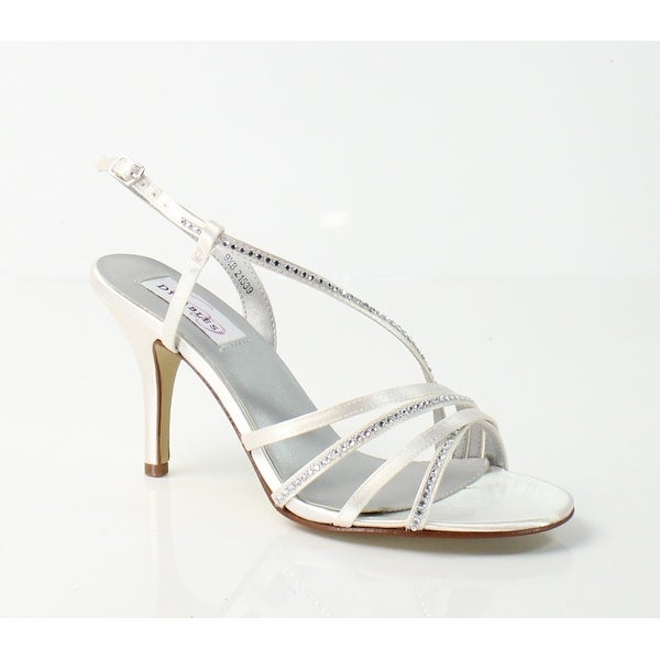Dyeables NEW White Ivory JO Shoes Size 9.5M Strappy Sandals