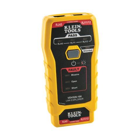Klein tools lan explorer data cable tester w/remote